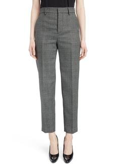 Balenciaga Prince of Wales Wool Carrot Trousers