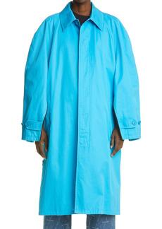 Balenciaga Side Zip Cotton Car Coat