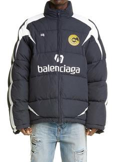 Balenciaga Soccer Logo Puffer Coat