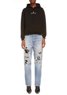 Balenciaga Sponsor Logo Embroidered Small Fit Hoodie