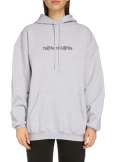 Balenciaga Symbolic Logo Oversize Cotton Hoodie