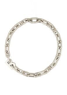 Balenciaga Thin B Chain Necklace