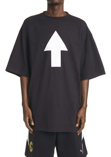Balenciaga WiFi Arrow Oversize Graphic Tee