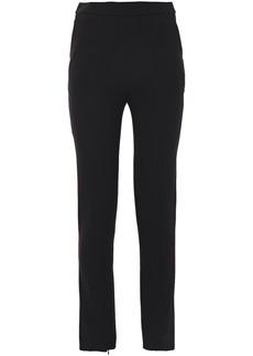Balenciaga Woman Crepe Slim-leg Pants Black