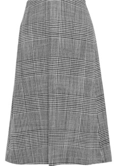 Balenciaga Woman Prince Of Wales Checked Wool Skirt Black