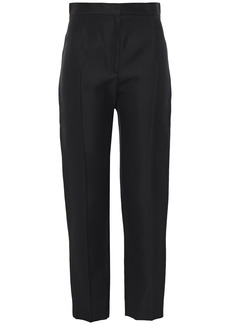 Balenciaga Woman Satin-crepe Slim-leg Pants Black