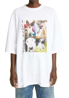 Balenciaga Women's I Love Dogs Graphic Tee
