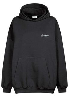 Balenciaga Corporate Cotton Jersey Hoodie