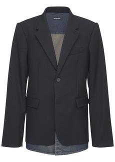 Balenciaga Layered Wool Blend Jacket