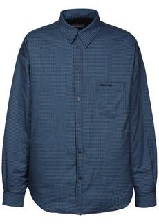Balenciaga Padded Check Flannel Shirt Jacket