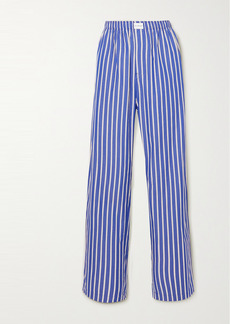 Balenciaga Striped Cotton-poplin Pants