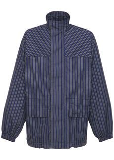 Balenciaga Tie Stripe Tech Ripstop Jacket