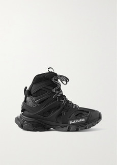 Balenciaga Track Hike Logo-detailed Mesh And Rubber High-top Sneakers