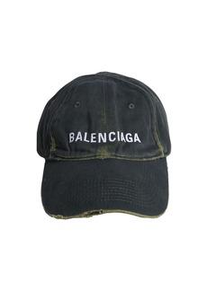 Balenciaga Vintage Cotton Denim Baseball Cap