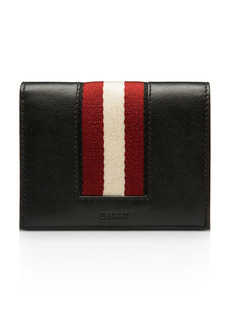 Bally Babie Stripe Leather Bi Fold Card Case