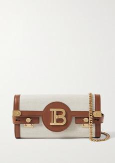 Balmain B-buzz 23 Leather-trimmed Canvas Shoulder Bag