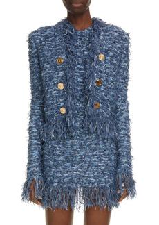 Balmain Fringe Tweed Jacket