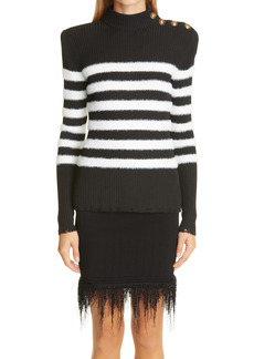 Balmain Placed Stripe Sweater