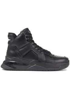 Balmain Woman Leather Sneakers Black