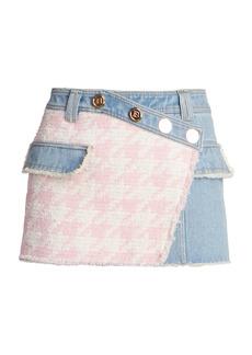 Balmain Denim & Tweed Skirt
