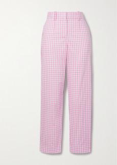 Balmain Gingham Cotton Straight-leg Pants