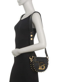 Balmain Jumper Small Quilted Lambskin Leather Studded Crossbody Bag
