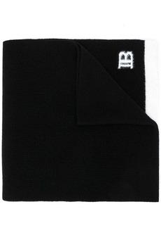 Balmain logo embroidered scarf