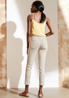 Banana Republic High-Rise Skinny Button-Fly Jean with Slit Hem