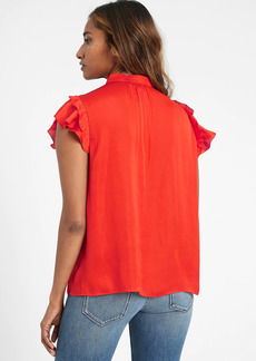 Banana Republic Satin Ruffle-Sleeve Blouse