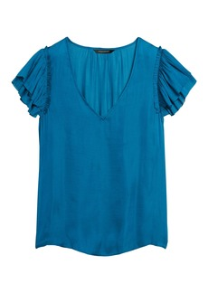 Banana Republic Soft Satin V-Neck Top
