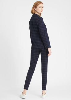 Banana Republic Unstructured Plaid Blazer