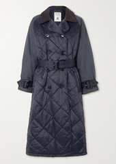 Barbour Alexachung Delia Corduroy-trimmed Quilted Shell Trench Coat