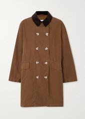 Barbour Alexachung Maud Corduroy-trimmed Cotton-gabardine Jacket