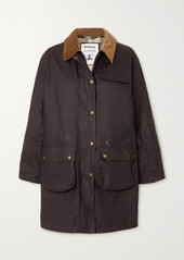 Barbour Alexachung Rowan Corduroy-trimmed Waxed-cotton Jacket