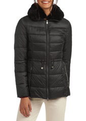 Barbour Angus Faux Fur Collar Quilted Coat