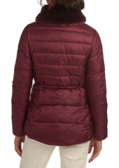 Barbour Angus Faux Fur Trim Puffer Jacket