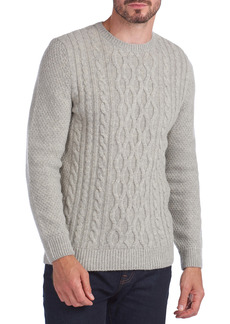 Barbour Chunky Cable Crewneck Wool Blend Sweater