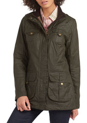 Barbour Defense Lightweight Waxed Cotton Coat