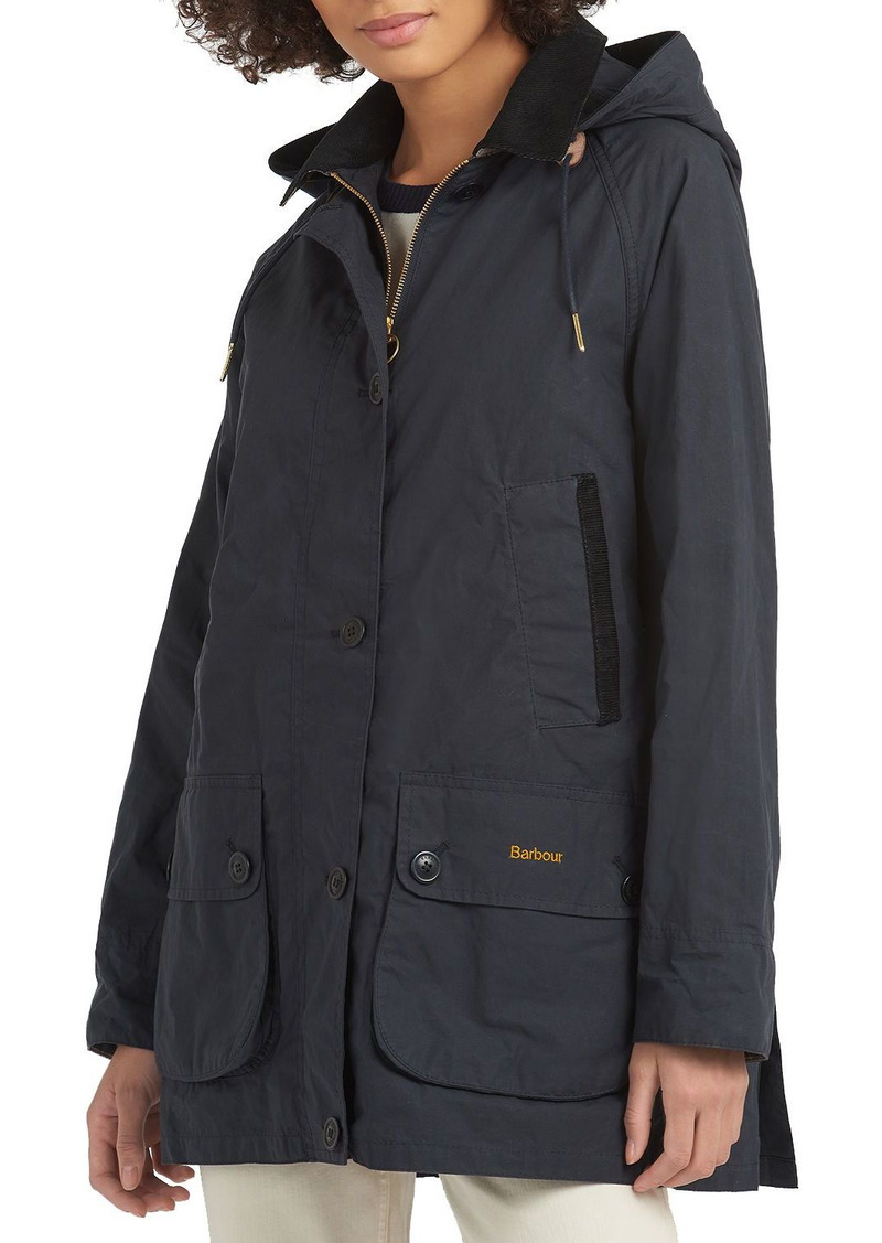 Barbour Delvingne Hooded Waterproof Mid-Length Anorak