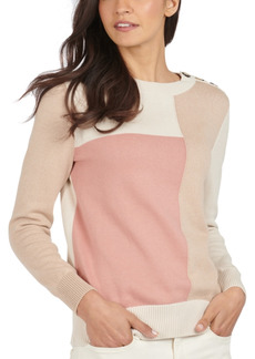 Barbour Highlands Cotton Colorblocked Sweater
