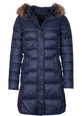Barbour Jamison Faux-Fur-Trim Hooded Puffer Coat