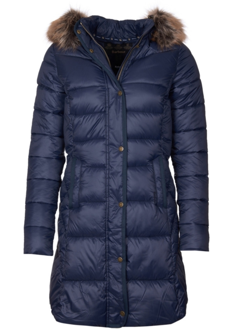 Barbour Jamison Faux-Fur-Trim Hooded Puffer Coat