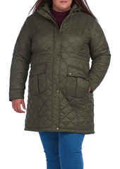 Barbour Jenkins Quilted Nylon Jacket with Removable Hood (Plus Size)