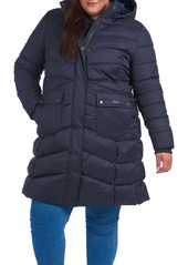 Barbour Kingston Plaid Quilted Coat with Removable Hood (Plus Size)