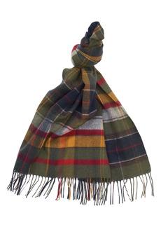 Barbour Mixed Tartan Wool Scarf