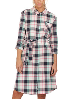 Barbour Padstow Cotton Plaid Shirtdress