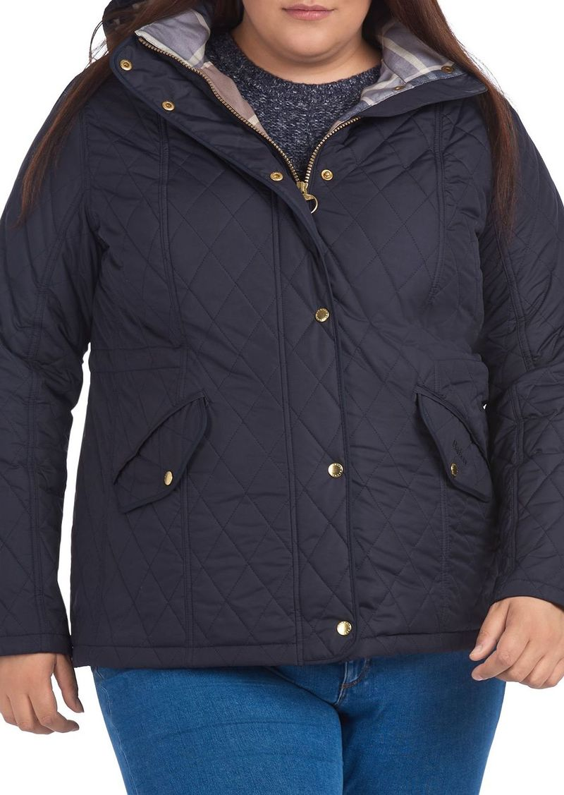 Barbour Plus Millfire Hooded Quilted Coat