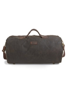Barbour Waxed Canvas Duffle Bag