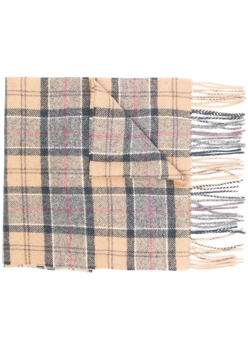 Barbour check-print fringed-edge scarf