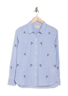 Barbour Highfield Striped Embroidered Hummingbird Shirt